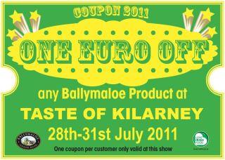 Taste of Killarne €1 off Ballymaloe Relish products