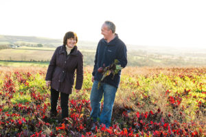Yasmin Hyde and Joe Harnett, our Beetroot farmer
