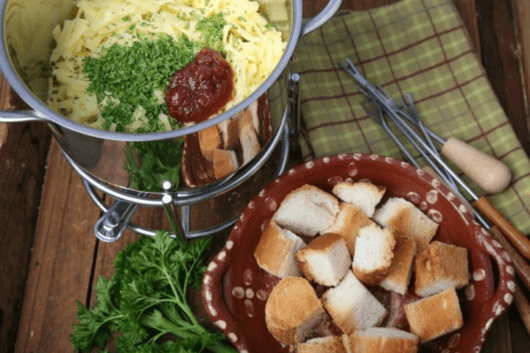 Cheese Dutch Fondue with Ballymaloe Relish