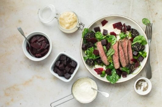 Black pudding, Beef and Beetroot salad