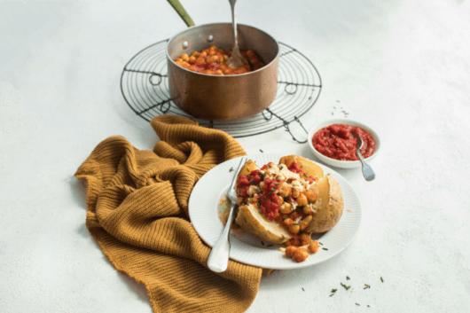 Baked Potato with Ballymaloe Fiery Relish
