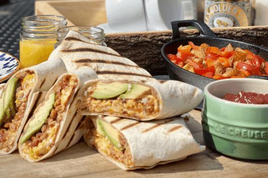 Breakfast Burrito with Ballymaloe Pepper Relish