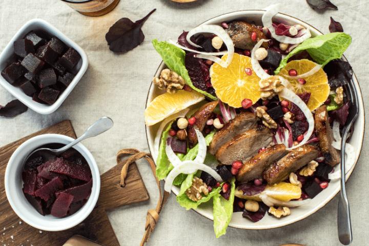 Roast Duck Salad with Ballymaloe Irish Beetroot